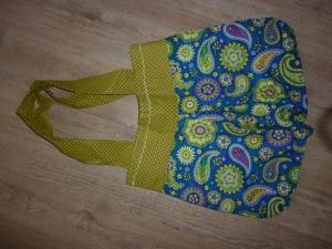 Tasche genäht aus Baumwollstoffen kaufen ~*~ Ballontasche  mit Paisleymuster in kräftigem Blau kaufen - Handarbeit kaufen