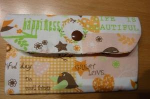 Täschchen bzw. kleines Portemonnaie aus Baumwollstoff mit verschiedenen Motiven genäht kaufen