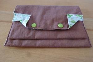 Universaltäschchen bzw. Portemonnaie aus Baumwollstoffen genäht in bronze mit Kakteen kaufen  - Handarbeit kaufen