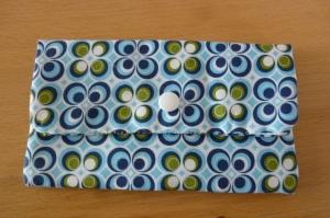 Täschchen bzw. kleines Portemonnaie aus Baumwollstoff in blau-weiss mit  Blumenmuster genäht kaufen ~~*Tante Ema*~~ - Handarbeit kaufen