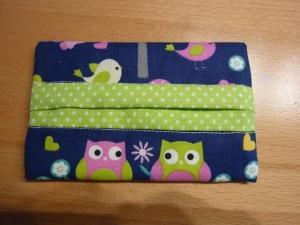 Taschentücher Tasche genäht aus Baumwollstoffen kaufen *TaTüTa* Kosmetiktäschchen ~ griffbereite Taschentücher  - Handarbeit kaufen