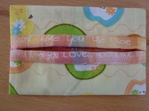 Taschentücher Tasche genäht aus Baumwollstoffen mit Äpfeln kaufen * TaTüTa* Kosmetiktäschchen ~ griffbereite Taschentücher  - Handarbeit kaufen