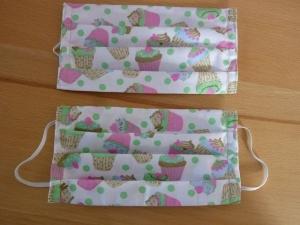 Behelfsmundschutz aus Baumwollstoffen genäht in rosa und mintgrün kaufen ~*~ k e i n  Virenschutz! lediglich Mundabdeckung um andere Personen zu schützen.~