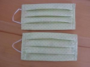 Behelfsmundschutz aus Baumwollstoffen genäht in grün und bunt kaufen ~*~ k e i n   Virenschutz!  lediglich Mundabdeckung um andere Personen zu schützen.~