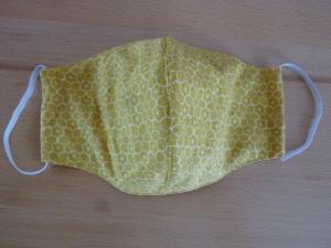 Behelfsmund- und Nasenschutz aus gelbem Baumwollstoff genäht kaufen ~*~ k e i n   Virenschutz!  lediglich Mundabdeckung um andere Personen zu schützen.~  - Handarbeit kaufen