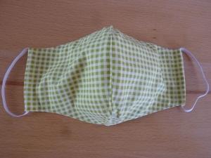 Behelfsmund- und Nasenschutz aus grünem Baumwollstoff genäht kaufen ~*~ k e i n  Virenschutz!  lediglich Mundabdeckung um andere Personen zu schützen.~  - Handarbeit kaufen