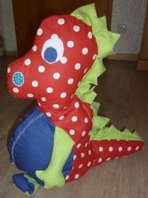 Großen bunten Drachen aus Baumwollstoffen genäht zum Schmusen und liebhaben kaufen ~~~Spielzeug~~~Geschenk~~~ - Handarbeit kaufen