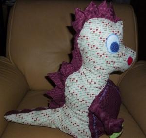 Großen bunten Drachen aus Baumwollstoffen genäht zum Schmusen und liebhaben kaufen ~~~Spielzeug~~~Geschenk~~~