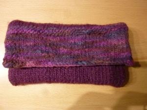 Gestrickte Clutch gestrickt  aus Schurwolle und gefilzt ~ mit Baumwollstoff genäht  kaufen ~ * ~ Universaltäschchen ~ Schmucktäschchen ~ Geschenk - Handarbeit kaufen