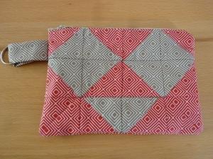 Universaltäschchen /Schmucktäschchen bzw. Portemonnaie aus Baumwollstoffen mit Retroraute genäht in  kaufen   - Handarbeit kaufen