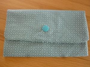 Täschchen bzw. kleines Portemonnaie aus Baumwollstoff in  mit muster genäht kaufen    - Handarbeit kaufen