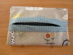 Taschentücher Tasche genäht aus Baumwollstoffen mit lustigen Tierfiguren kaufen * TaTüTa* Kosmetiktäschchen ~ griffbereite Taschentücher   - Handarbeit kaufen