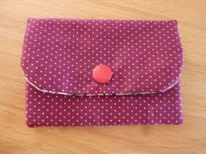 Täschchen bzw. kleines Portemonnaie aus Baumwollstoff mit Rosenmuster genäht kaufen        - Handarbeit kaufen