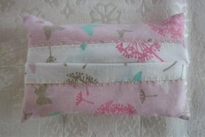 Taschentücher Tasche genäht aus Baumwollstoffen mit Pusteblumen in rosé kaufen * TaTüTa* Kosmetiktäschchen ~ griffbereite Taschentücher  - Handarbeit kaufen