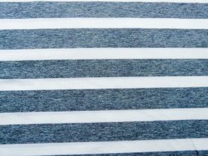 Jersey Querstreifen weiß - blau