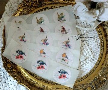 Aufkleber *  Sticker * Etikett * Vintage Vogel Motiv *  für viele Gelegenheiten