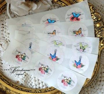 Aufkleber, Etikett, Sticker für deine Handmade Produkte in 2 verschiedenen Größen.