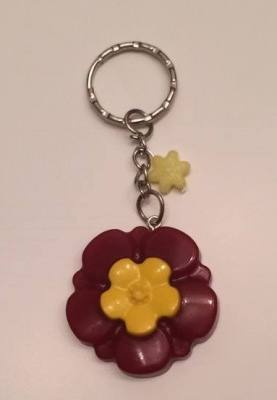 Schlüsselanhänger Blume Rot/Gelb