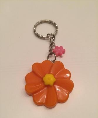 Schlüsselanhänger Blume Orange/Gelb