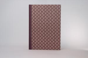 handeingebundenes Adressbuch mit ABC- Register,  im Gewebe+Dekopapier-Einband. (Kopie id: 100145257)