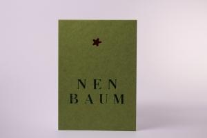 Weihnachtspostkarte, einfache Post-Karte, mit braunem Umschlag. Recyclingmaterial. (Kopie id: 100146621)