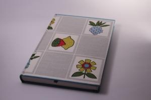 handgebundenes Schreibbuch mit buntem Küchentuch-Einband  (Kopie id: 100147251)
