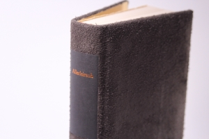 Allerleirauh, Reime und Schnurren, handeingebundenes antiquarisches Lesebuch im Ganzleder-Einband