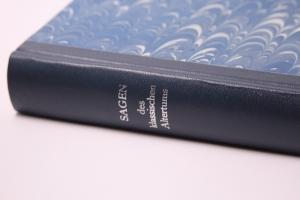 Sagen des klassischem Altertums, handeingebundenes antiquarisches Buch im Halbleder-Einband
