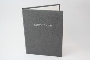 Handgebundene Familien-Stammbuch-Mappe mit Prägung