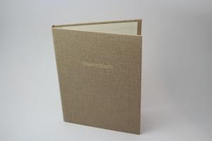 Handgebundene Familien-Stammbuch-Mappe mit Prägung (Kopie id: 100147985)