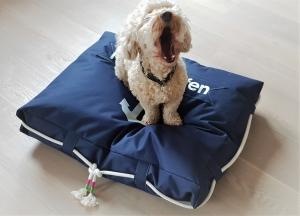 Tolles  handgemachtes Hundekissen Heimathafen mit orthopädische Füllung * Sofort verfügbar
