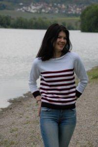 klassische Pullover mit Streifen, Baumwolle, Größe 36-38