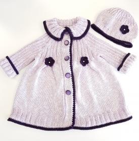 Ein Mantel mit Mütze für eine kleine Prinzessin in Gr. 86/92