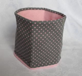Loop, Schlauchschal für Kinder - Sterne rosa auf grau