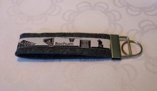 Schlüsselanhänger aus Filz - Bochum skyline