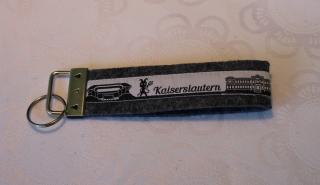 Schlüsselanhänger aus Filz - Kaiserslautern skyline