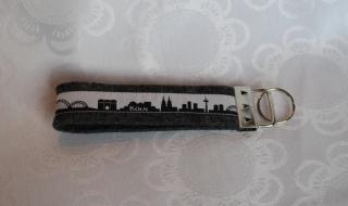 Schlüsselanhänger aus Filz - Köln skyline