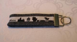 Schlüsselanhänger aus Filz - Mainz skyline