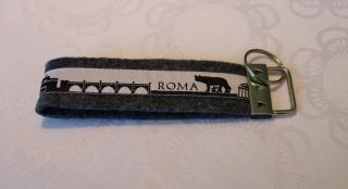 Schlüsselanhänger aus Filz - Rom skyline