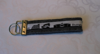 Schlüsselanhänger aus Filz - Stuttgart skyline