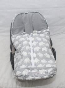 Fußsack Elefanten für Babyschale und Babywanne mit eigenen Schnitt von LuanaLunaDesign