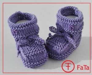 9 cm, Babyschuhe, Taufschuhe, mit Glitzersteine, in flieder