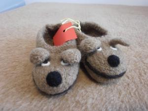 Kinderpantoffeln/Hundefilzpantoffeln, Gr.: 23 - Handarbeit kaufen