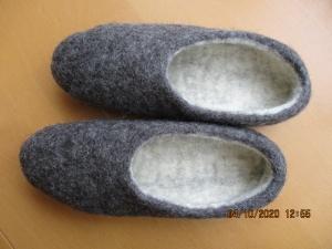 Hausschuhe Gr. 40, Pantoffeln handgefilzt