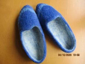 Hausschuhe, Pantoffeln Gr. 39, handgefilzt - Handarbeit kaufen