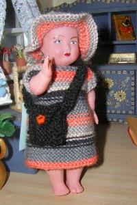 Jana, Kombination für Puppe 14,5 cm, P330