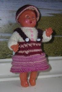 Lene, Kombination für Puppe 15 cm