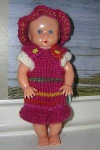 Nora,Kombination für Puppe 16 cm, P334