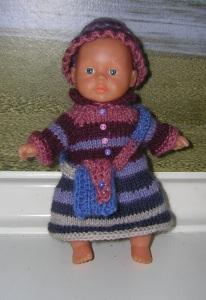 Pauline, Kombination für Puppe 15 cm, P336