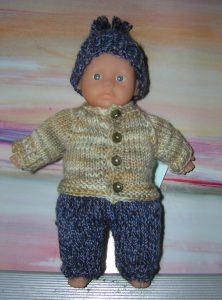 Ulf, Kombination für Puppe 16 cm, P340